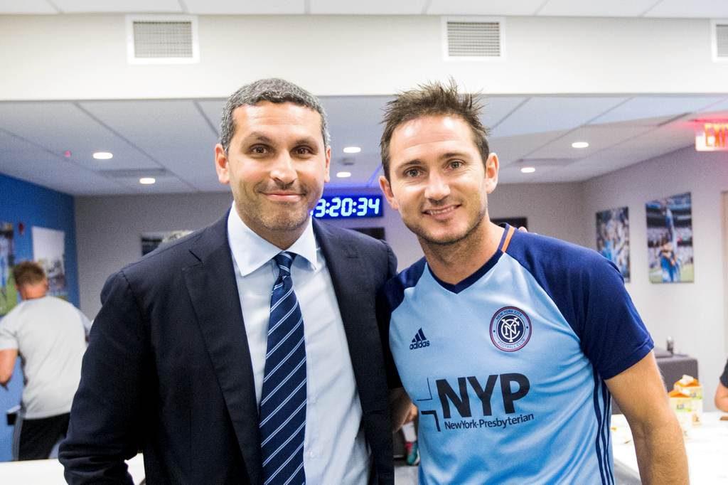 Khaldoon Al Mubarak with Frank Lampard