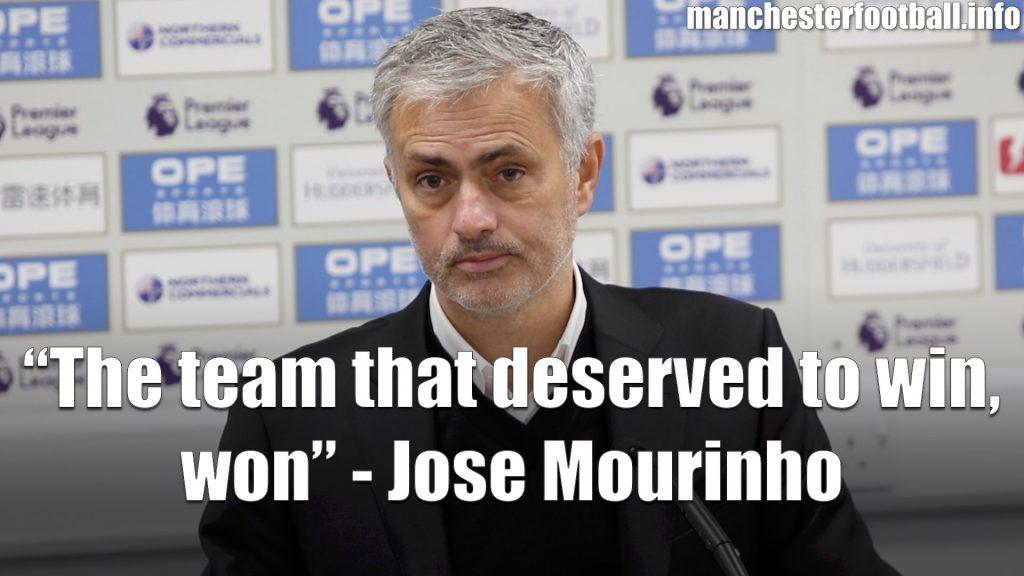 Jose Mourinho - Huddersfield Town vs Manchester United 2017