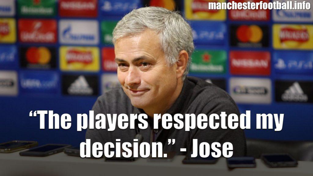 Jose Mourinho Man Utd vs Benfica Post Match Press Conference 31st October 2017