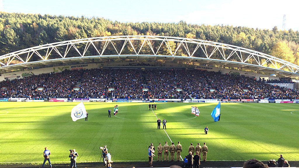 A minute's silence ahead of the Huddersfield Town vs West Brom Premier League game on Saturday November 4, 2017