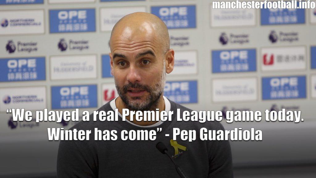 Huddersfield Town vs Man City Pep Guardiola November 2017