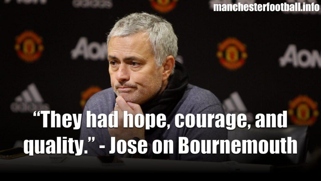 Jose Mourinho Bournemouth Post Match Press Conference December 13, 2017