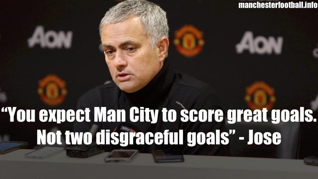 Jose Mourinho Manchester Derby Post Match Press Conference December 10th 2017