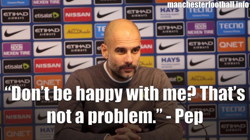 Pep Guardiola Man City vs Bournemouth Post Match Press Conference 23rd December 2017