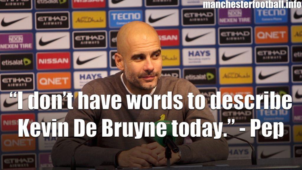 Pep Guardiola Post Match Press Conference Man City v Spurs December 16, 2017