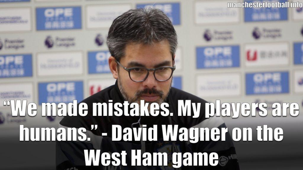 David Wagner Huddersfield Town vs West Ham Post Match Press Conference January 2018