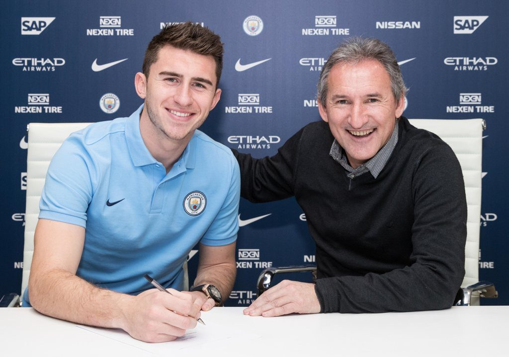 Aymeric Laporte and Txiki Begiristain