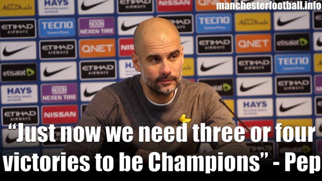 Pep Guardiola Man City vs Chelsea 2018