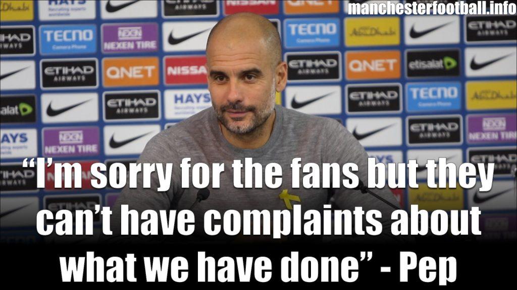 Pep Guardiola Post Match Press Conference Man City vs Man Utd April 7 2018