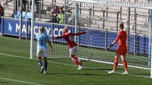 Danique Kerkdijk celebrates after scoring for Bristol City Women