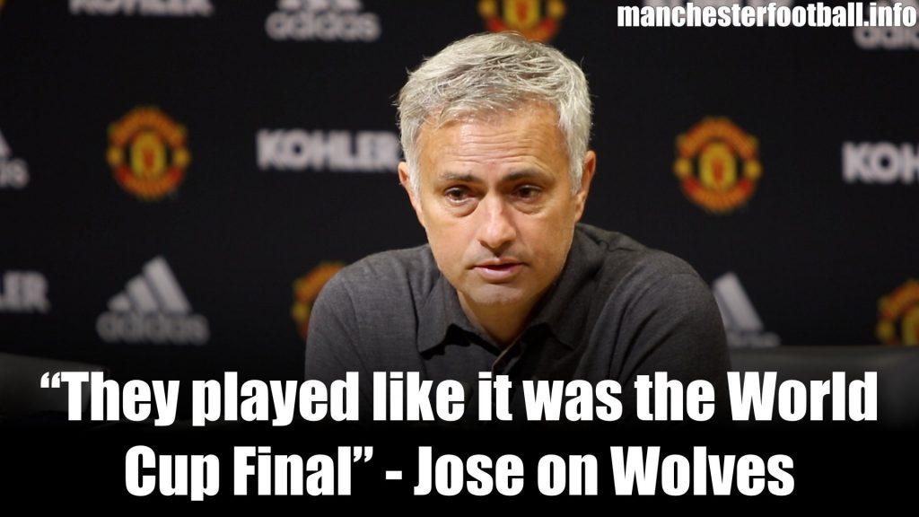 Jose Mourinho Man Utd vs Wolves 2019
