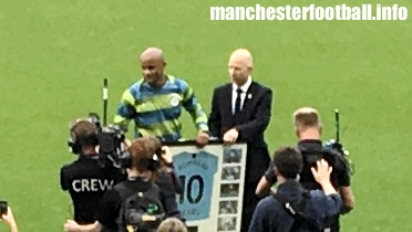 Vincent Kompany celebrates 10 years at Manchester City