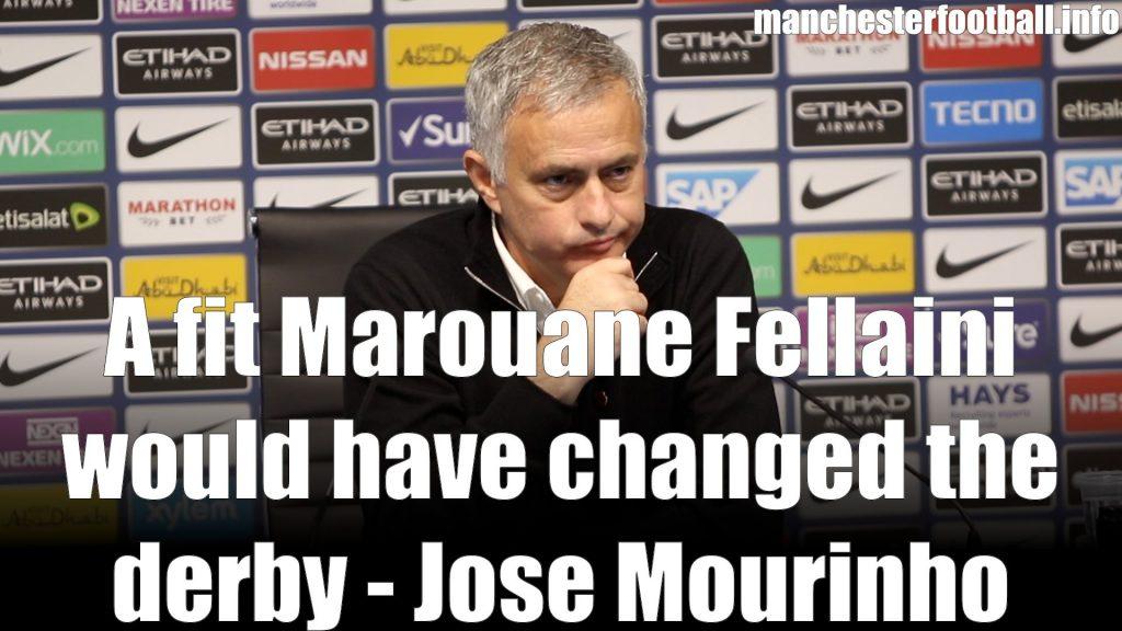 Jose Mourinho Man City vs Man Utd November 11 2019