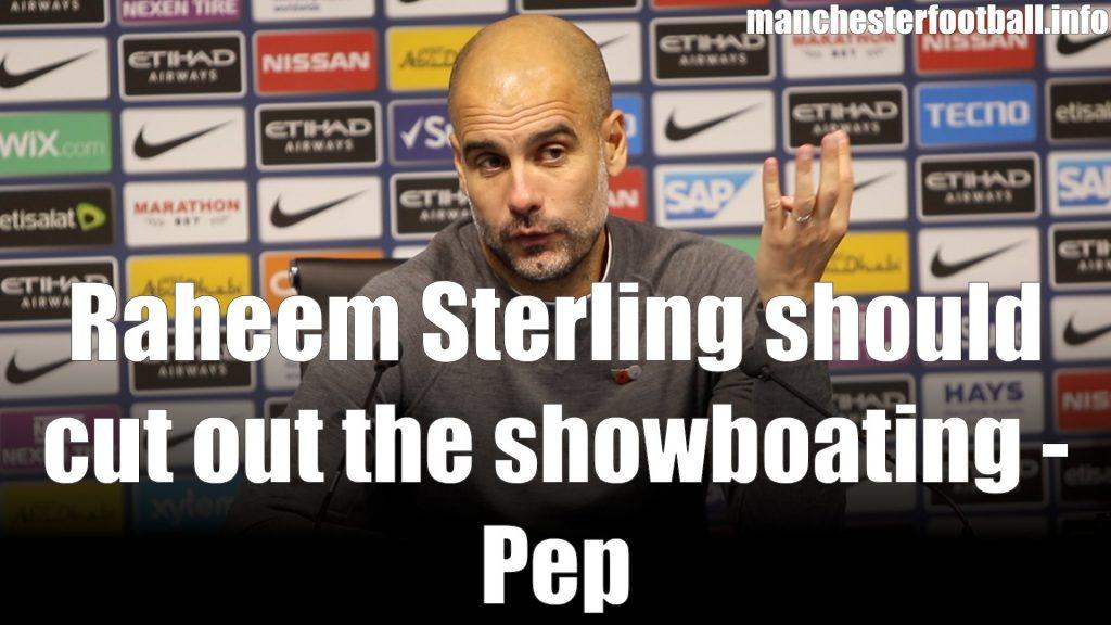 Pep Guardiola Man City vs Man Utd derby November 11 2018