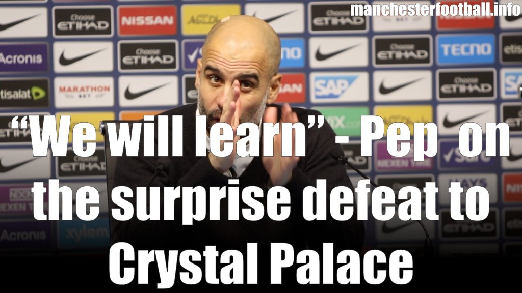 Pep Guardiola Man City vs Crystal Palace Dec 22 2018