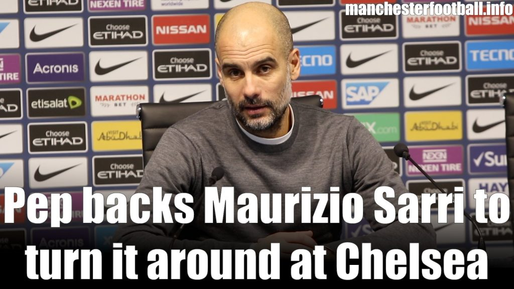 Pep Guardiola Man City vs Chelsea February 10 2019