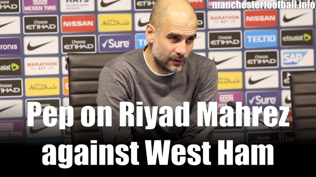 Pep Guardiola Man City vs West Ham February 27 2019