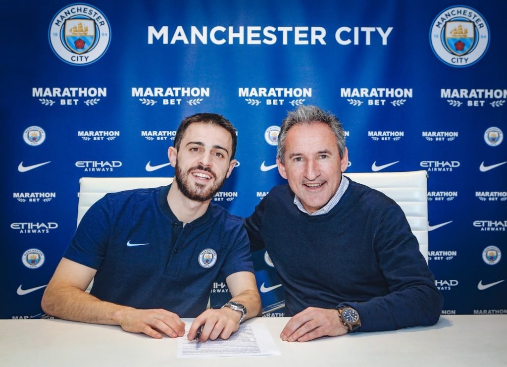 Bernardo Silva and Txiki Begiristain
