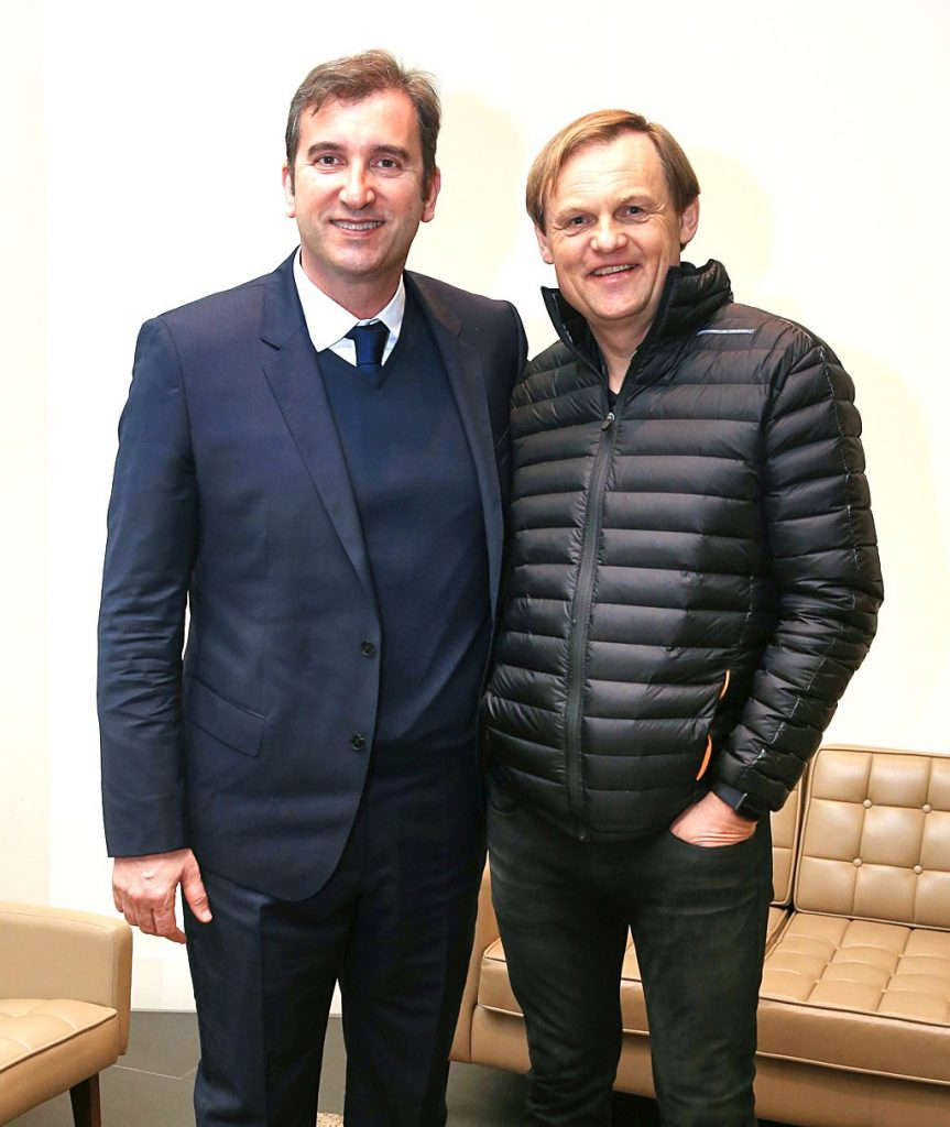 Ferran Soriano, CEO of City Football Group, and Bjorn Gulden, CEO of PUMA