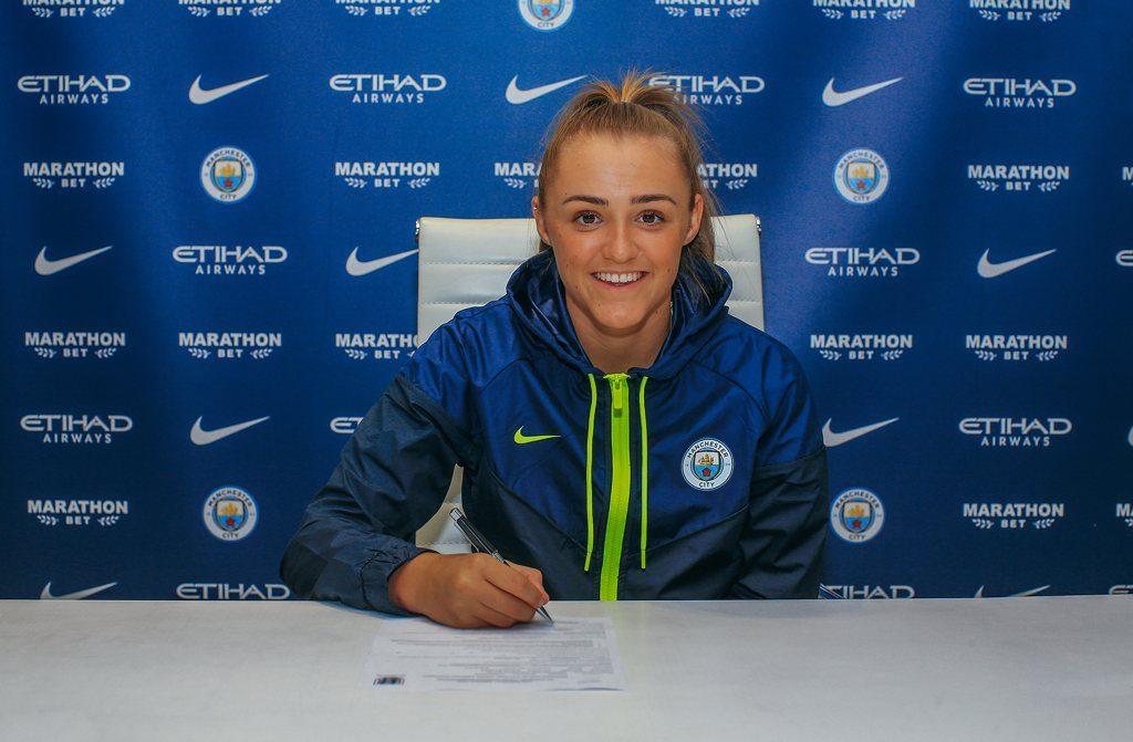 Georgia Stanway signs new three year contract with Man City