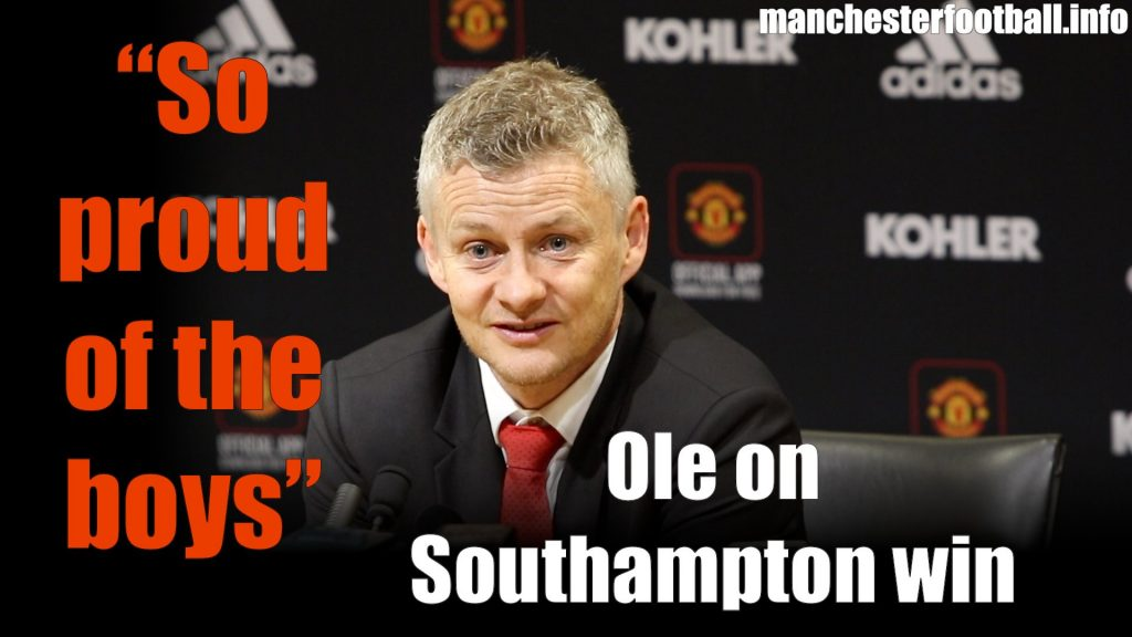 Ole Gunnar Solskjaer Man Utd vs Southampton March 2 2019