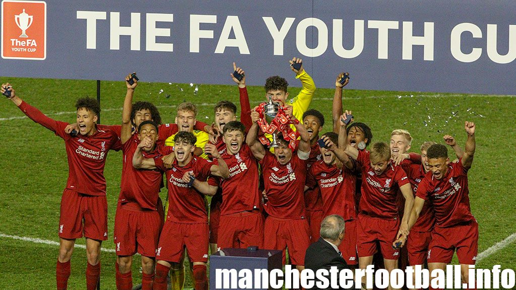 Liverpool U18 lift the 2019 FA Youth Cup after beating Manchester City U18 at the City Football Academy on Thursday April 25, 2019