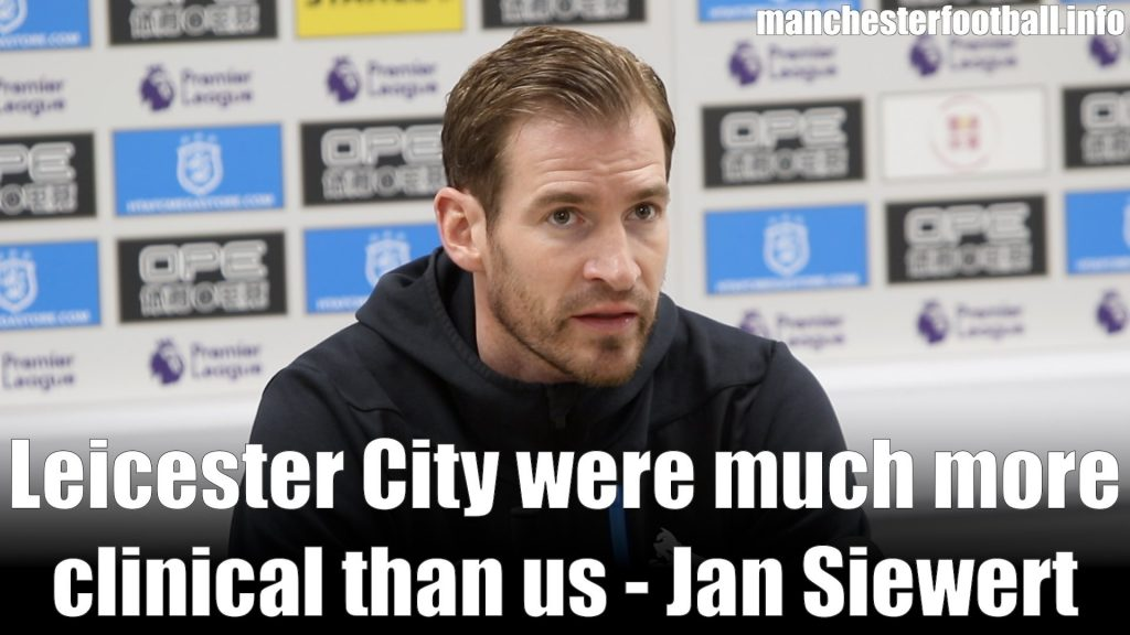 Jan Siewert Huddersfield Town vs Leicester City April 6 2019