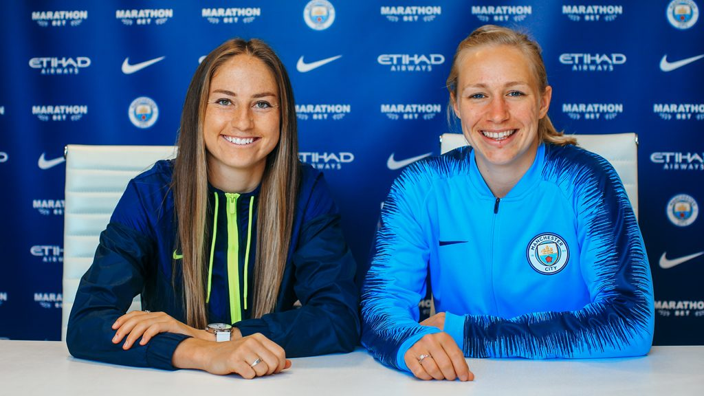 Janine Beckie and Pauline Bremer sign contract extensions with Manchester City