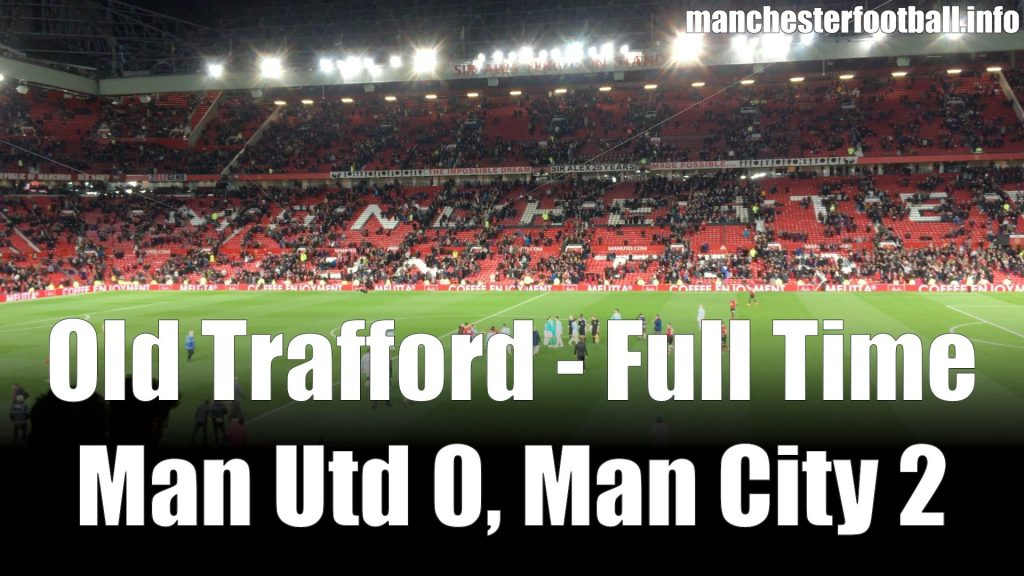 Man City fans react to beating Manchester United at Old Trafford for the third year in a row Wednesday April 24 2019