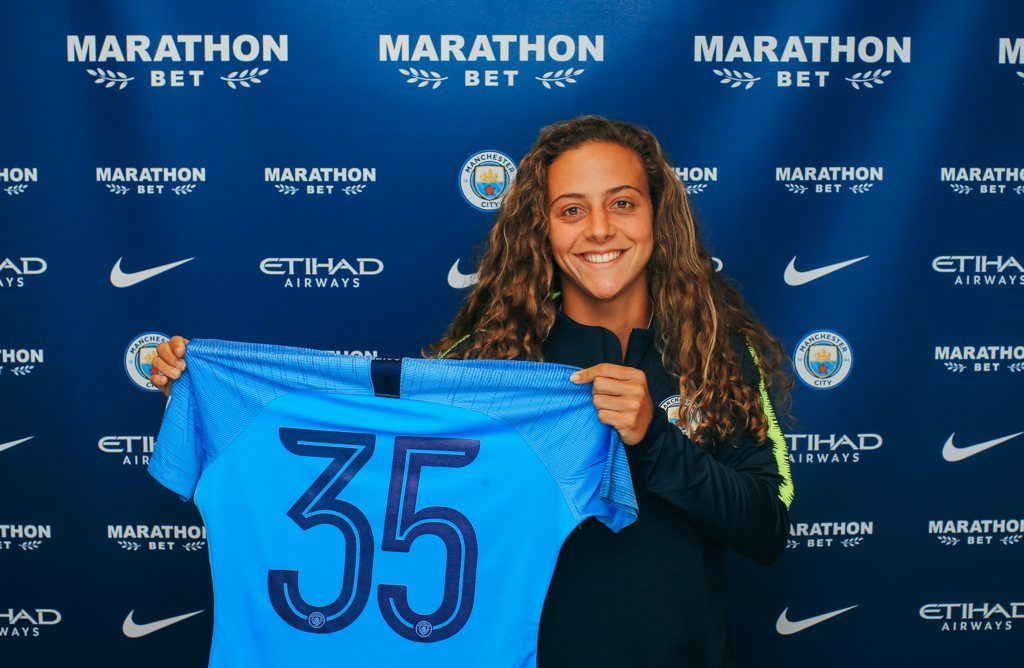 Matilde Fidalgo, with the number 35 shirt for Manchester City, will join the club on July 1, 2019