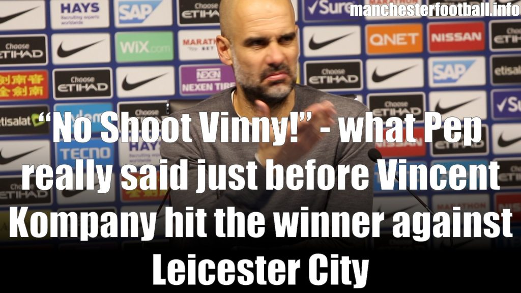 Pep Guardiola Man City vs Leicester City May 6 2019