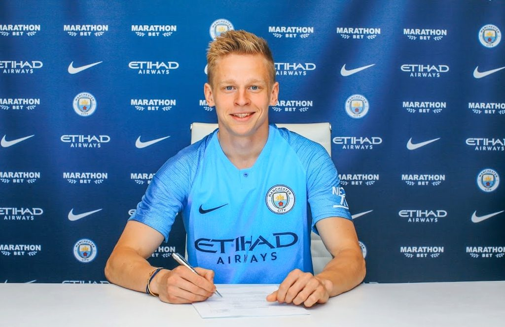 Oleksandr Zinchenko signs a new 5 year contract to stay at Manchester City