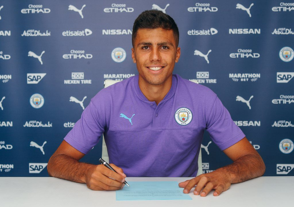 Rodri signs for Manchester City
