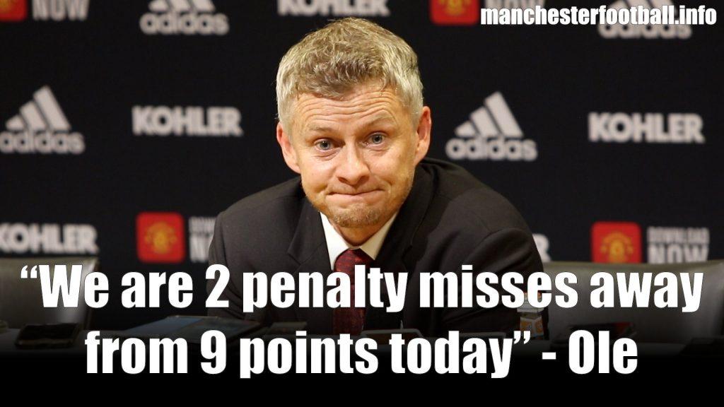 Ole Gunnar Solskjaer - Man Utd 1, Crystal Palace 2, Saturday August 24, 2019