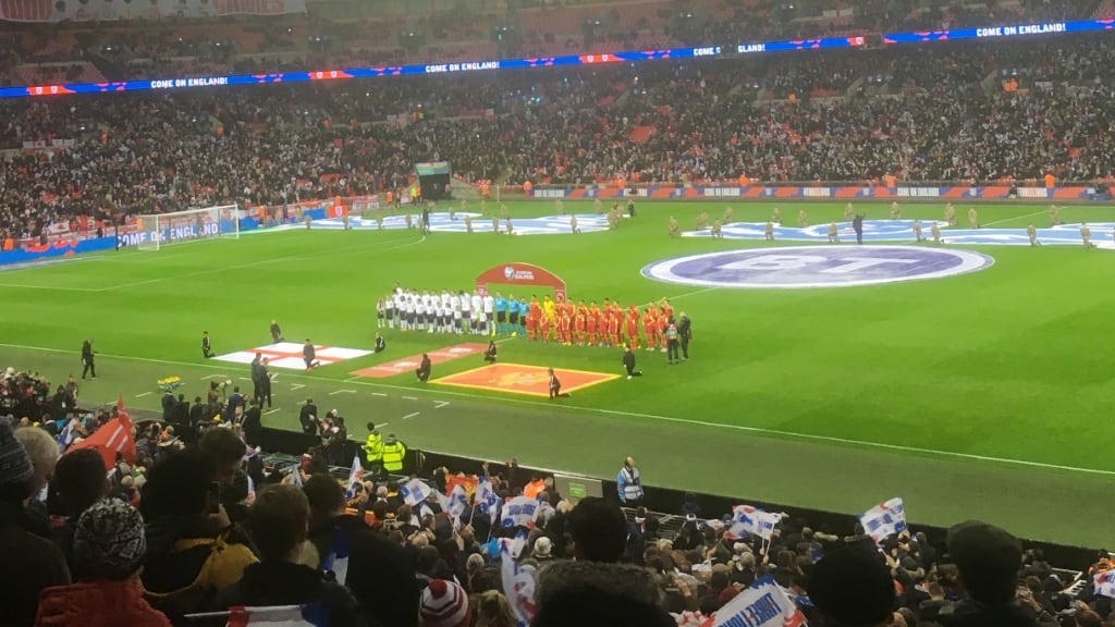 England vs Montenegro - the 1000th England international - Thursday November 14 2019