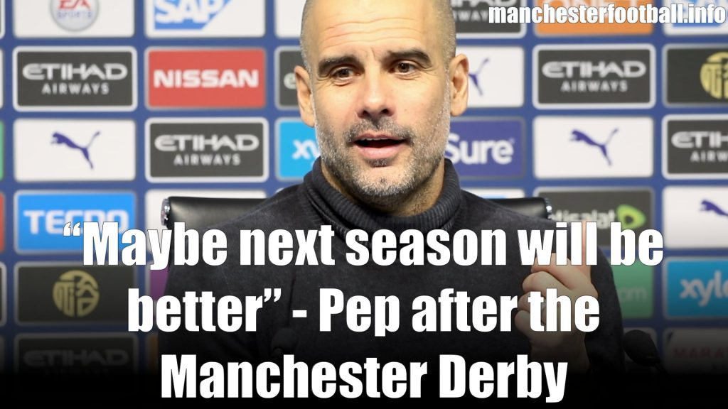 Pep Guardiola - Man City 1, Man Utd 2 - Saturday December 7 2019