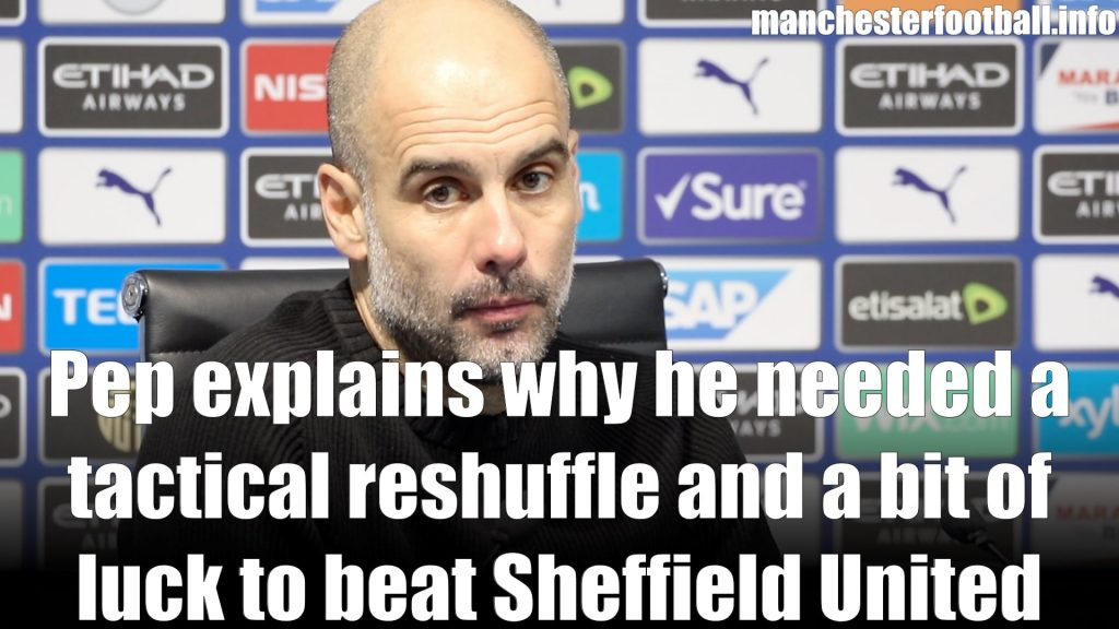 Pep Guardiola Man City 2, Sheffield United 0 - Sunday December 29 2019