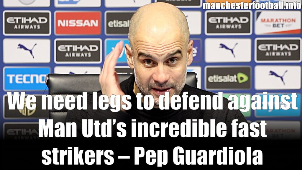 Pep Guardiola - Man City 0, Man Utd 1 - Carabao Cup Semi Final - 2nd Leg - Wednesday January 29, 2020