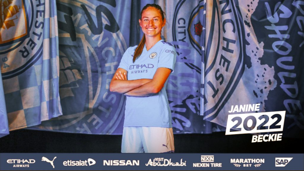 Janine Beckie signs Manchester City Women contract extension until 2022