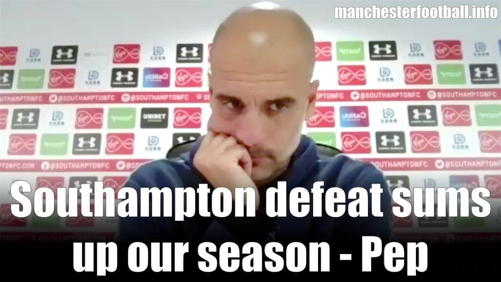 Pep Guardiola Post Match Press Conference - Southampton 1, Man City 0 - Sunday July 5 2020