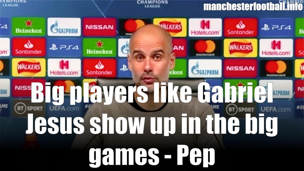 Pep Guardiola - Man City 2, Real Madrid 1 - Saturday August 7 2020