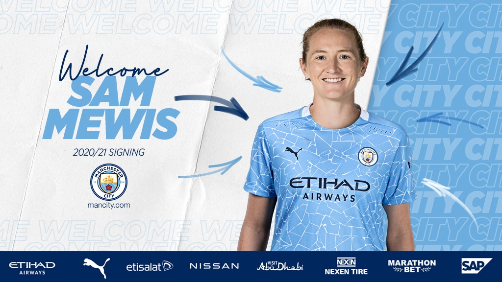 Sam Mewis joins Manchester City Women - Monday August 10 2020