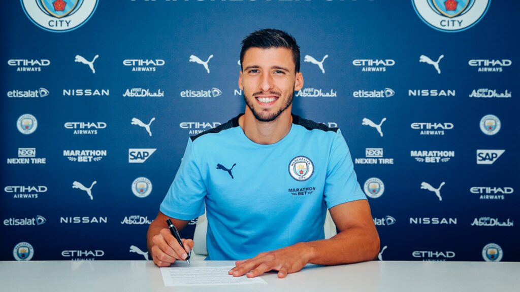 Ruben Dias signs for Manchester City