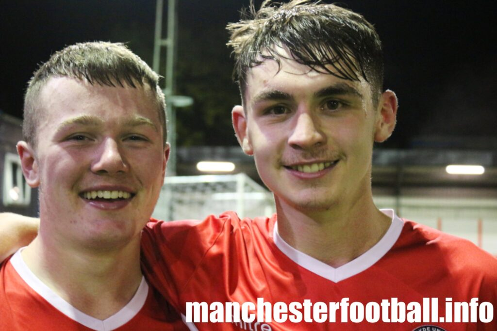 Goalscorers Aiden Butterworth left and Fin Rorke - Hyde United 2, Stockport County 1 - FA Youth Cup