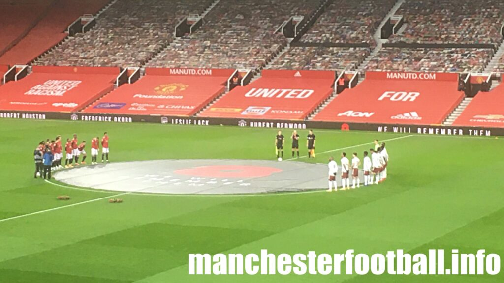A minute of silence at Old Trafford to mark Remembrance Day and the passing of Nobby Stiles on Sunday November 1 2020