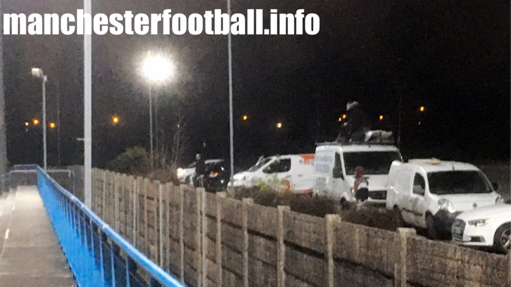 Fans on van roofs at Curzon Ashton 2, AFC Fylde 0 - Tuesday November 17 2020