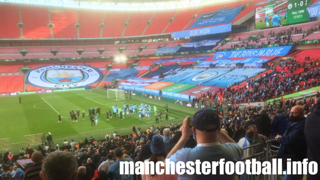 Manchester City 1, Tottenham 0 - after the final whistle at Wembley Sunday April 25 2021
