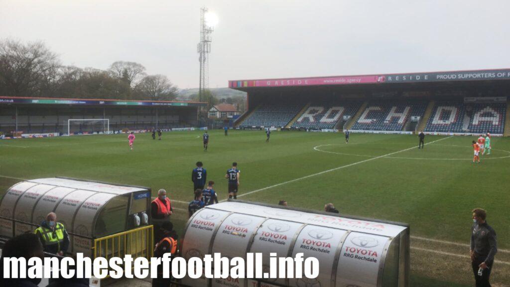 Rochdale vs Blackpool Tuesday April 20 2021
