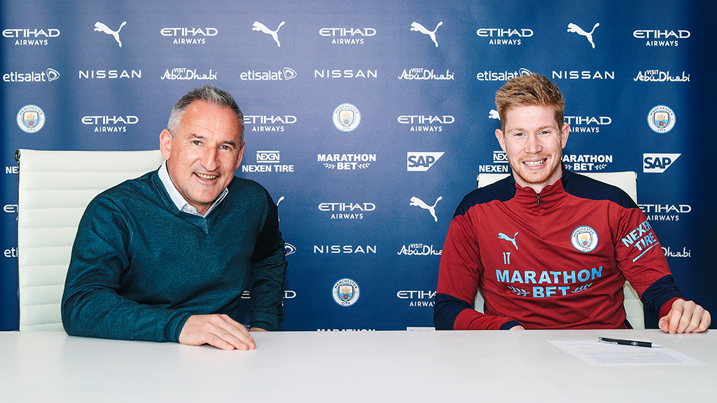 Txiki Begiristain and Kevin De Bruyne
