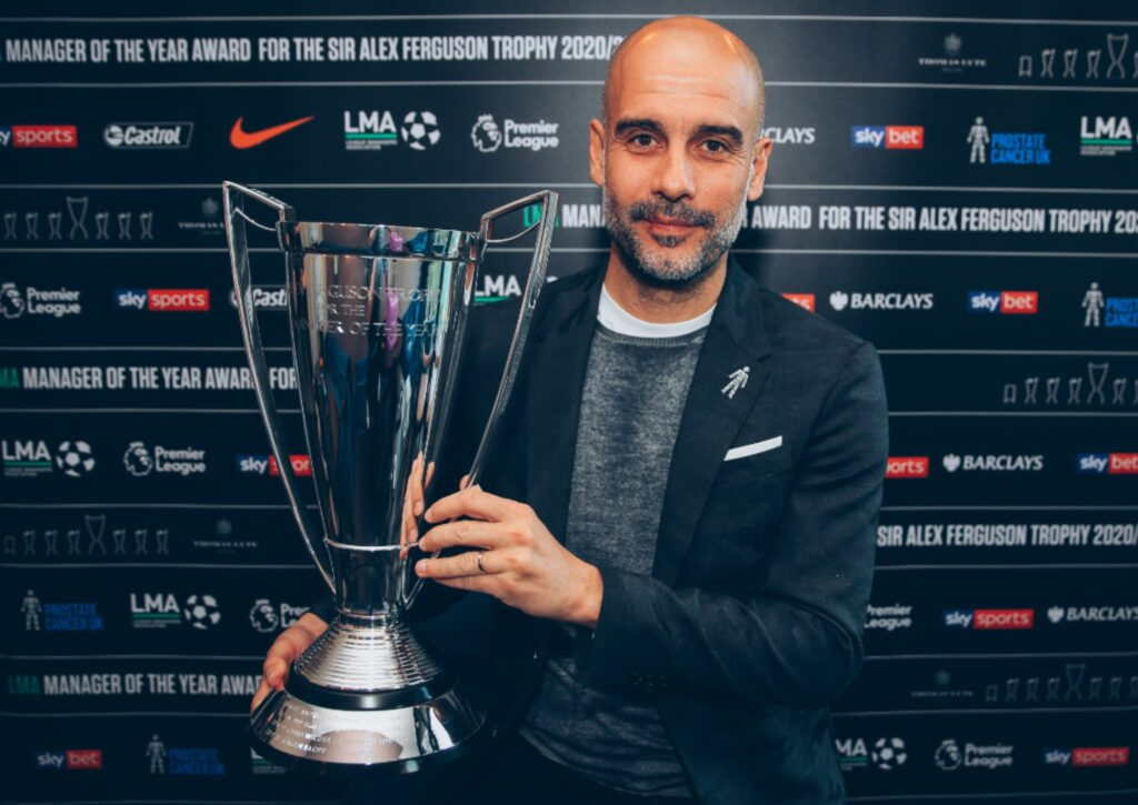 Pep Guardiola wins LMA Manager of the Year 2020-21